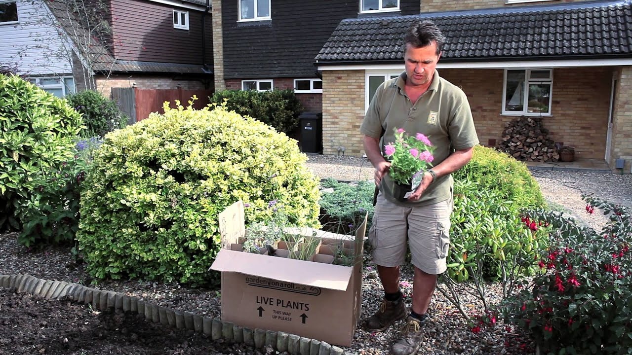 Instant Garden Roll : Garden on a roll instant borders youtube