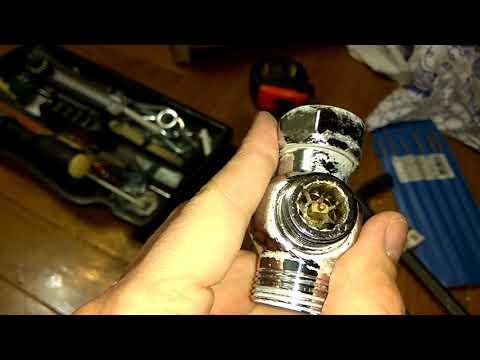 Разборка и ремонт кнопочного (вытяжного) переключателя душ-излив своими руками.