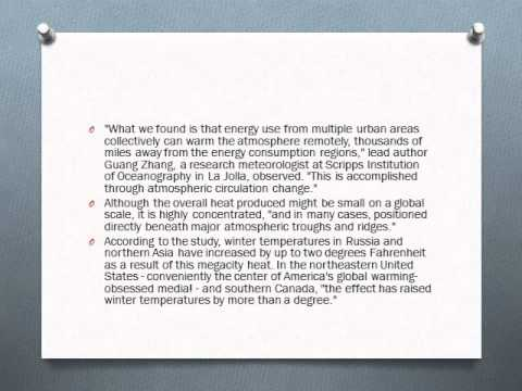 Asia Global Energy International News - Study: Heat From Megacities Making Winters Warmer