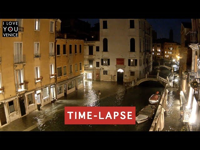 High Tide in Venice TimeLapse - 29 October 2018 - Venice in Motion