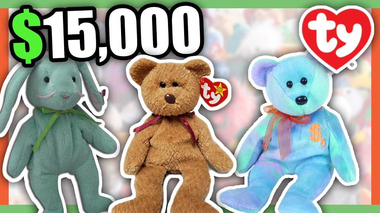 5 SUPER RARE BEANIE BABIES WORTH MONEY - COLLECTIBLE RARE TOYS WORTH MONEY!! 36f3a101aae