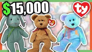 5 SUPER RARE BEANIE BABIES WORTH MONEY - COLLECTIBLE RARE TOYS WORTH MONEY!!