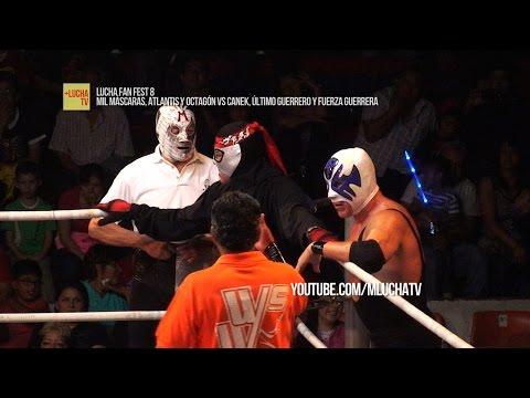 Mil Máscaras, Atlantis y Octagón vs Canek, Último Guerrero y Fuerza Guerrera, Lucha Fan Fest 8