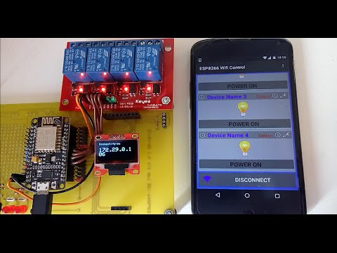Esp8266 Wifi Control With Android App Youtube