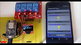 ESP8266 WiFi Control with Android App.