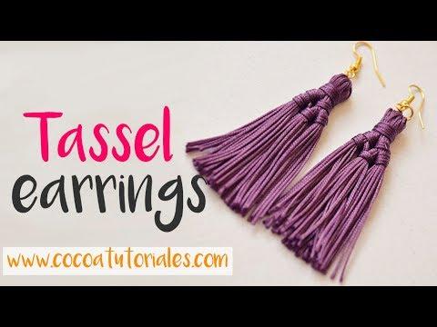 DIY How to make beautiful tassel earrings