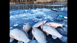Ловля Карася  Зимой на Удочку. Рыбалка на Карася Зимой.