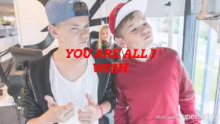 Marcus & Martinus-Alt jeg ønsker meg LYRICS IN ENGLISH (Merry Christmas!)