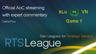 RTS League AoC S35: kLu vs. VN, Game 1