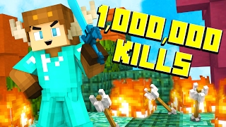 1,000,000 KILLS IN MINECRAFT BED WARS!