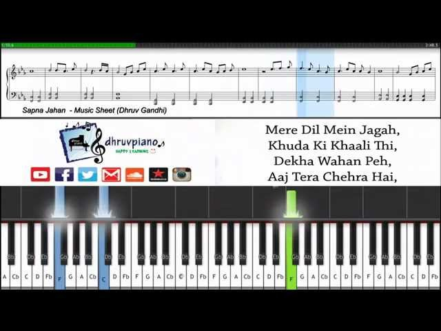Sapna Jahan Brothers Piano Tutorial Sheet Music