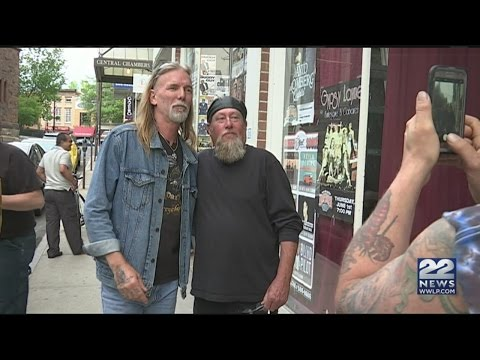 Michael Allman performs in Northampton the day after his father died