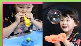 마법의 비눗방울 저글 버블 뽀로로 장난감을 가지고 놀이하는 라임튜브 LimeTube & Toys