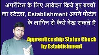 How to Check Applied Apprenticeship Status threw Establishment Login