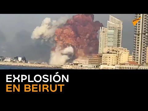 Fuerte deflagración en un almacén de explosivos del puerto de Beirut