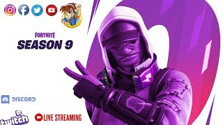 The awesome Season 9 Fortnite Battle! - Going to get 'em all! Let's go it again! 4/10 Sub Goal 🙏🙏