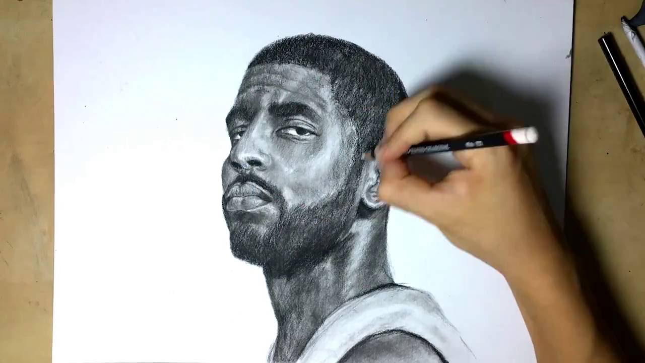 premium selection e6841 1b744 Kyrie Irving ~ Time-lapse Drawing - YouTube