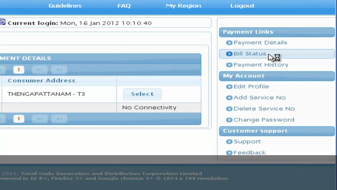 eb bill online payment chennai