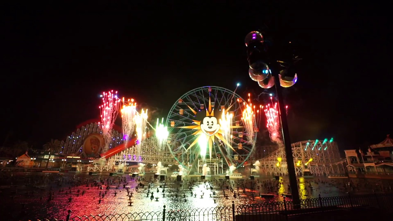 2018 2019 New Year S Eve Countdown At Disney California Adventure World Of Color Lite Youtube