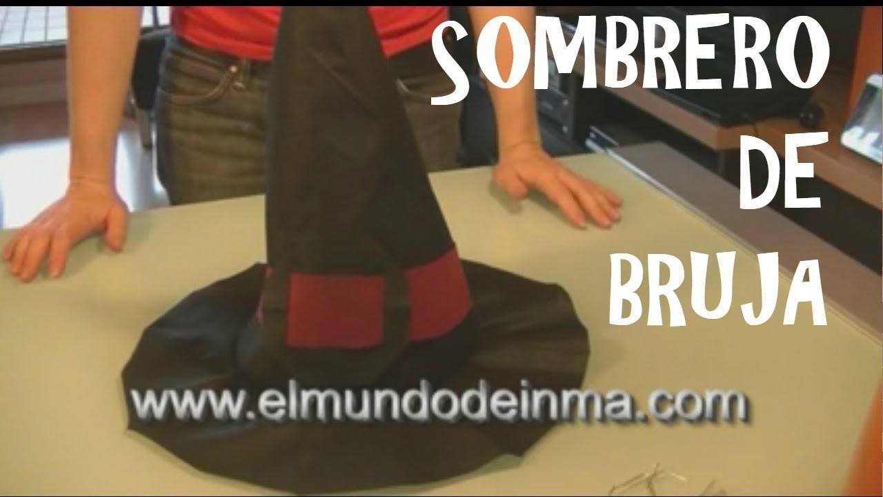 Cómo hacer un sombrero de bruja con material reciclado - YouTube 8b600025171