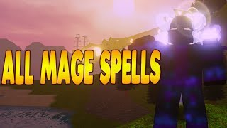 ALL NEW MAGE SPELLS IN DUNGEON QUEST PIRATE ISLAND UPDATE! ROBLOX | iBeMaine