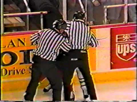 Cale Hulse vs Chris McAllister AHL Jan 13/96