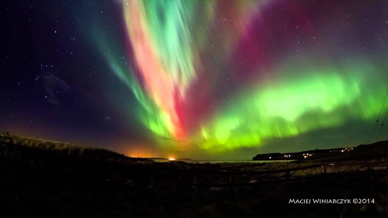 Great Night Of The Northern Lights   YouTube Amazing Design