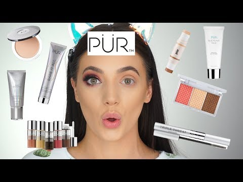 First Impressions & GIVEAWAY! - Full Face of PUR Cosmetics | Toria Serviss