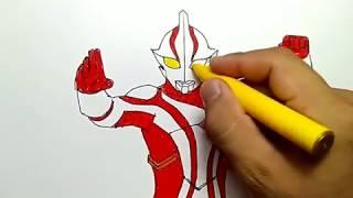 cara menggambar ultraman mebius dengan mudah dan cepat / how to draw ultraman easy