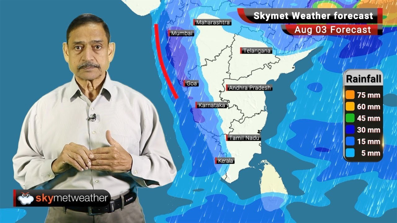 Weather Forecast Aug 03: Heavy Rainfall over Madhya Pradesh and Rajasthan. Subdued Monsoon for South