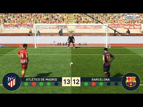 PES 2019 | ATLETICO MADRID vs FC BARCELONA | Penalty Shootout | Messi VS Griezmann | Gameplay PC