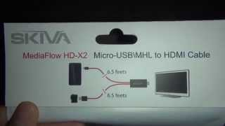 Skiva 6.5 feet MHL (Micro USB) To Male HDMI cable 1080p