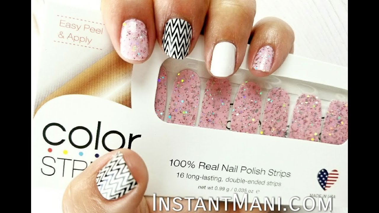 Color Street application of Valley Girl Nail Polish Strips by Ana ...