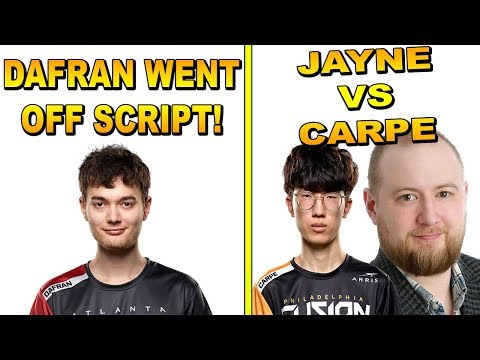 Dafran Talks About How He Changed The Script On Blizzard! Carpe Vs Jayne Trash Talk!