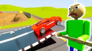 Cars attacking Lego Baldi | Brick Rigs