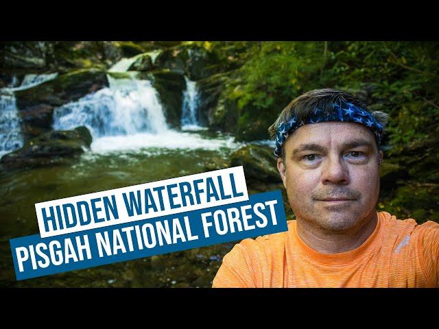 Hidden Waterfall in Pisgah National Forest North Carolina