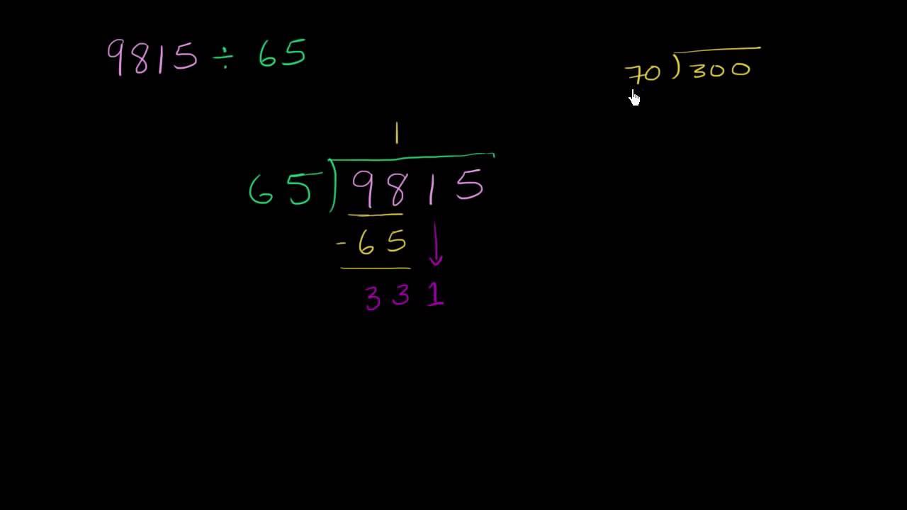 Division med tocifret tal uden rest
