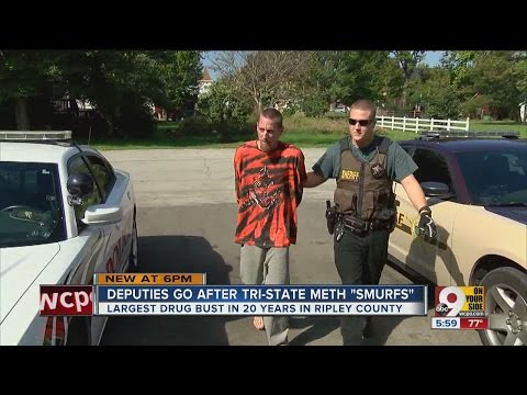 Police round up 'smurfs' in three-county meth raid in southeastern Indiana