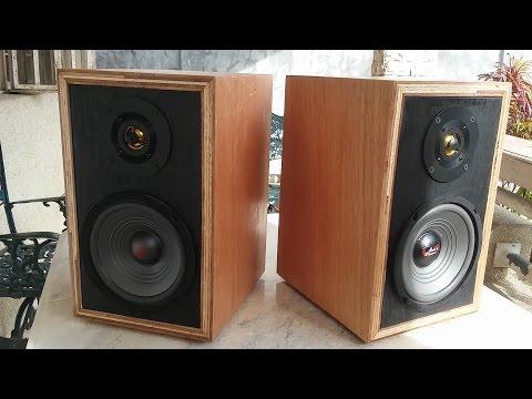 Home Made DIY Bookshelf Speakers Test - Vintage Look, Modern Sound