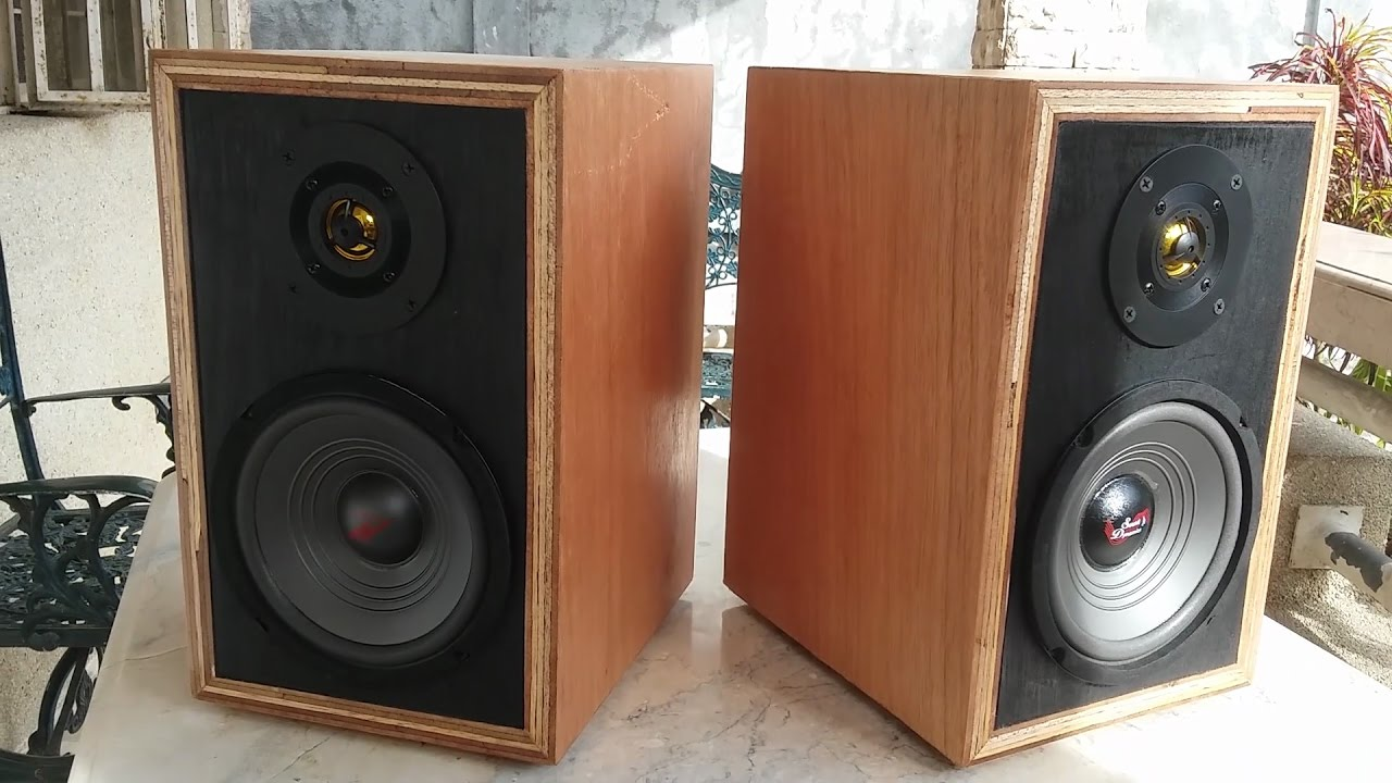 Home Made DIY Bookshelf Speakers Test