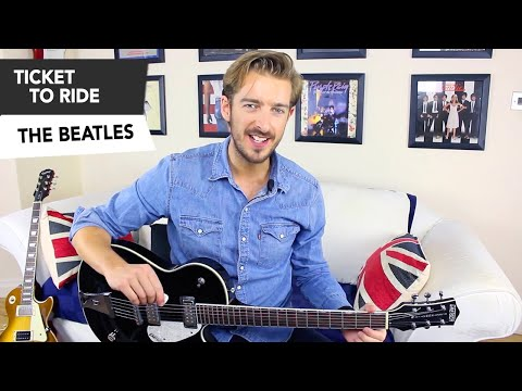 The Beatles - Ticket To Ride Guitar Lesson Tutorial ( how to play )