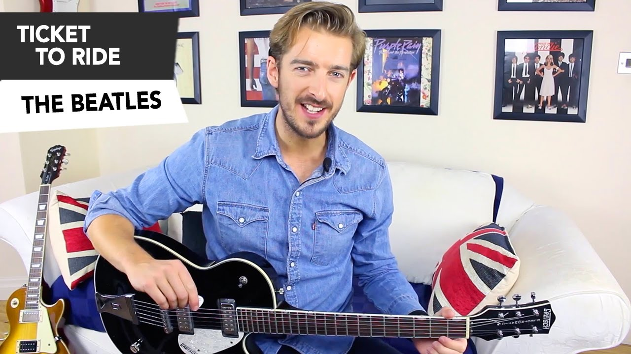the beatles ticket to ride guitar lesson tutorial how to play the beatles ticket to ride guitar lesson tutorial how to play