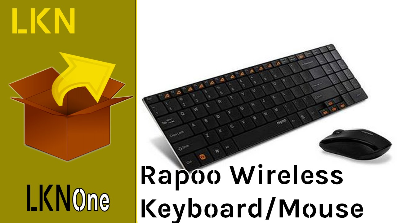 710fca71046 Unboxing of Rapoo Blade Series Wireless Keyboard & Mouse Combo (9060) -  YouTube