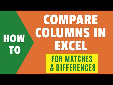 Compare Two Columns In Excel (for Matches & Differences)