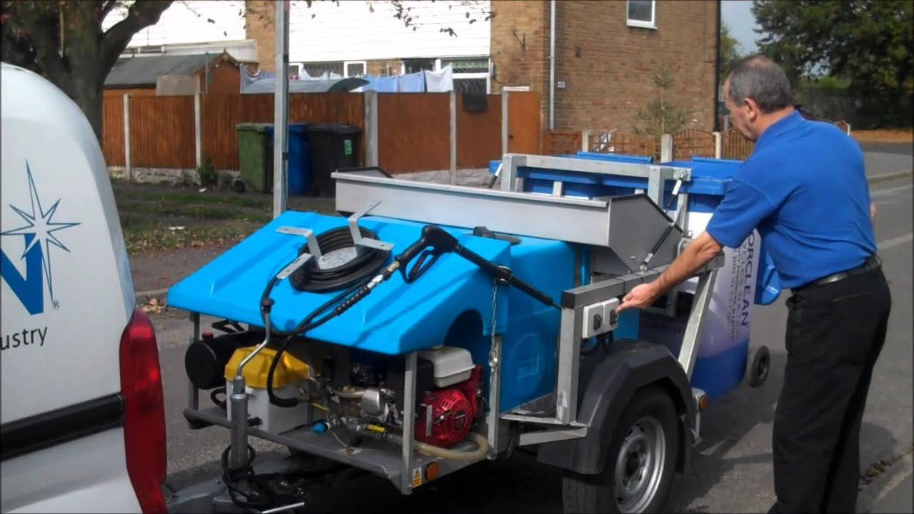 Wheelie Bin Cleaning >> Morclean Wheelie Bin Wash Machine 2014/2015 Model Demonstration Cleaning - YouTube
