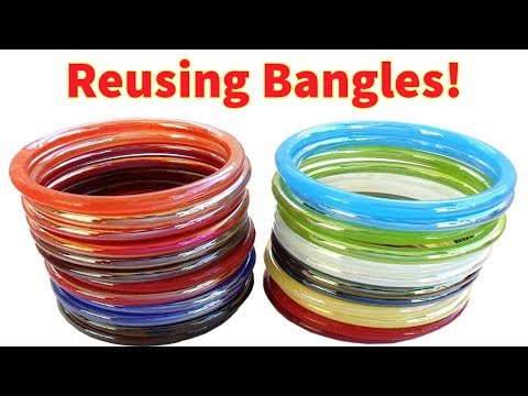 Amazing Way to Reuse Old Bangles || DIY Flower Vase || Best Out of Waste 5 Minute Craft