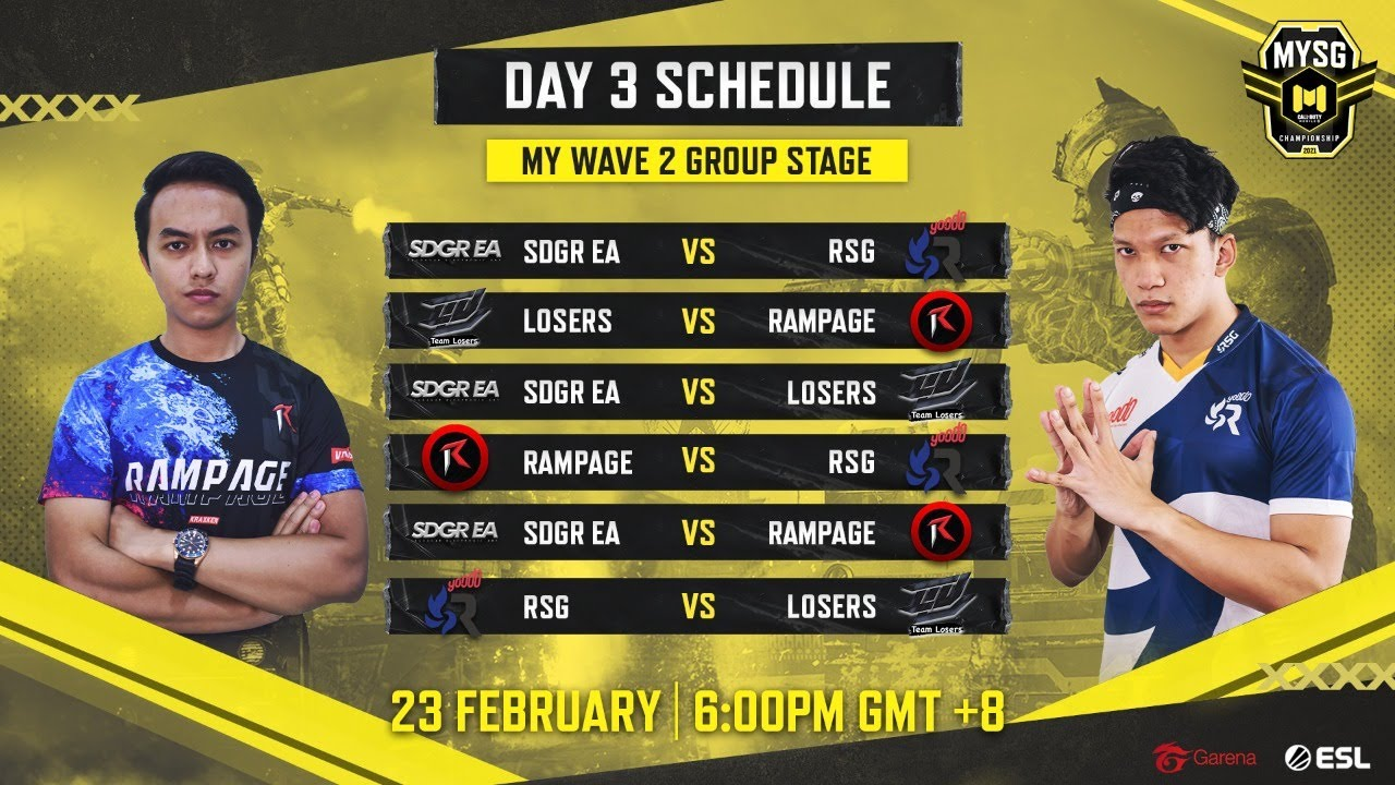🔴 LIVE MYSG Championship: Wave 2 Group Stage Day 3 - MY