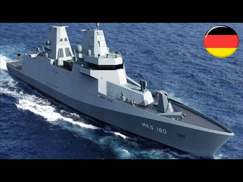 The German navy will build 4 MKS 180 Frigate multipurpose warships