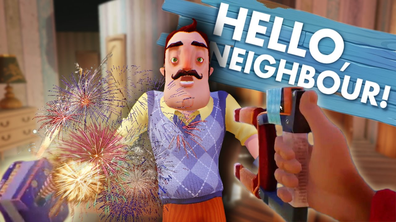 Hello Neighbor Alpha 2 - MAGNET GUN, FIREWORKS and MORE ...
