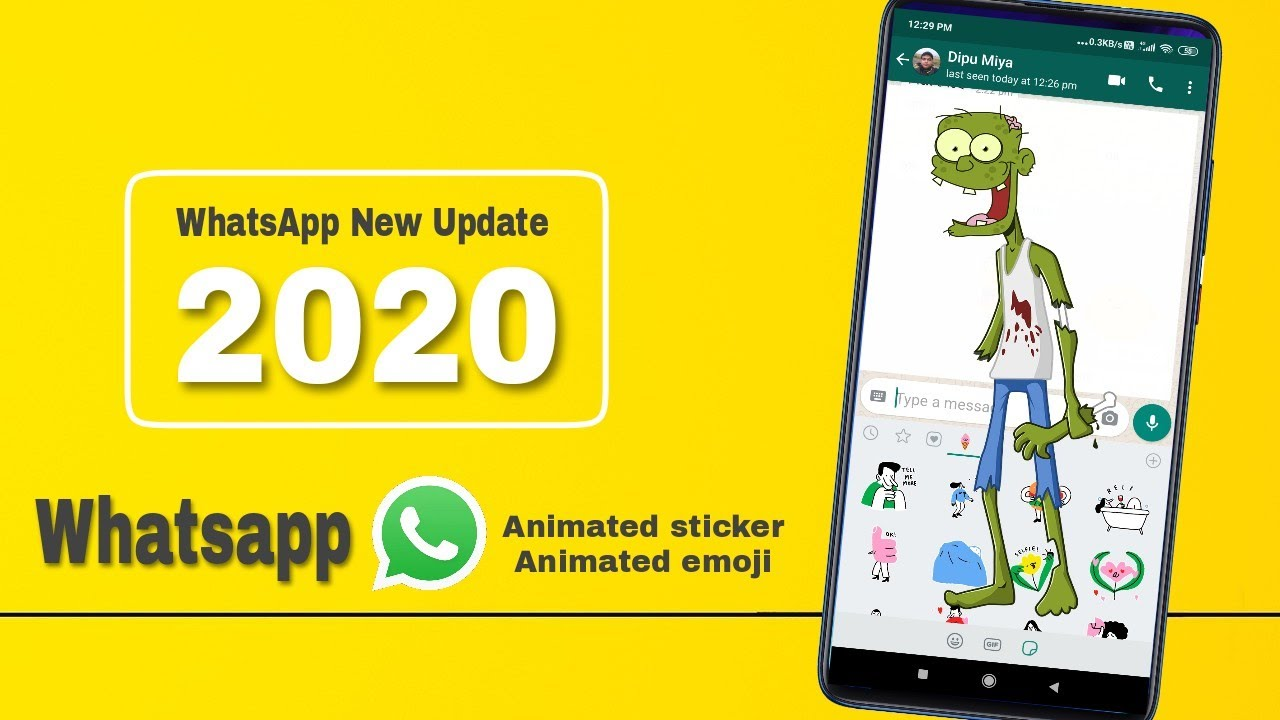Whatsapp new update 2020|whatsapp latest update 2020|Animated stickers|Animated emoji